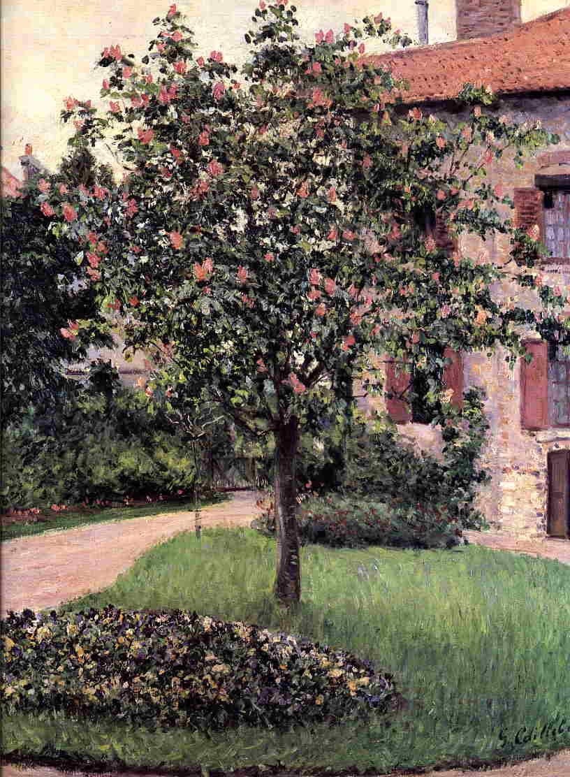 Petit Gennevilliers, Facade, Southeast Of The Artist's Studio, Overlooking The Garden, Spring Gustave Caillebotte
