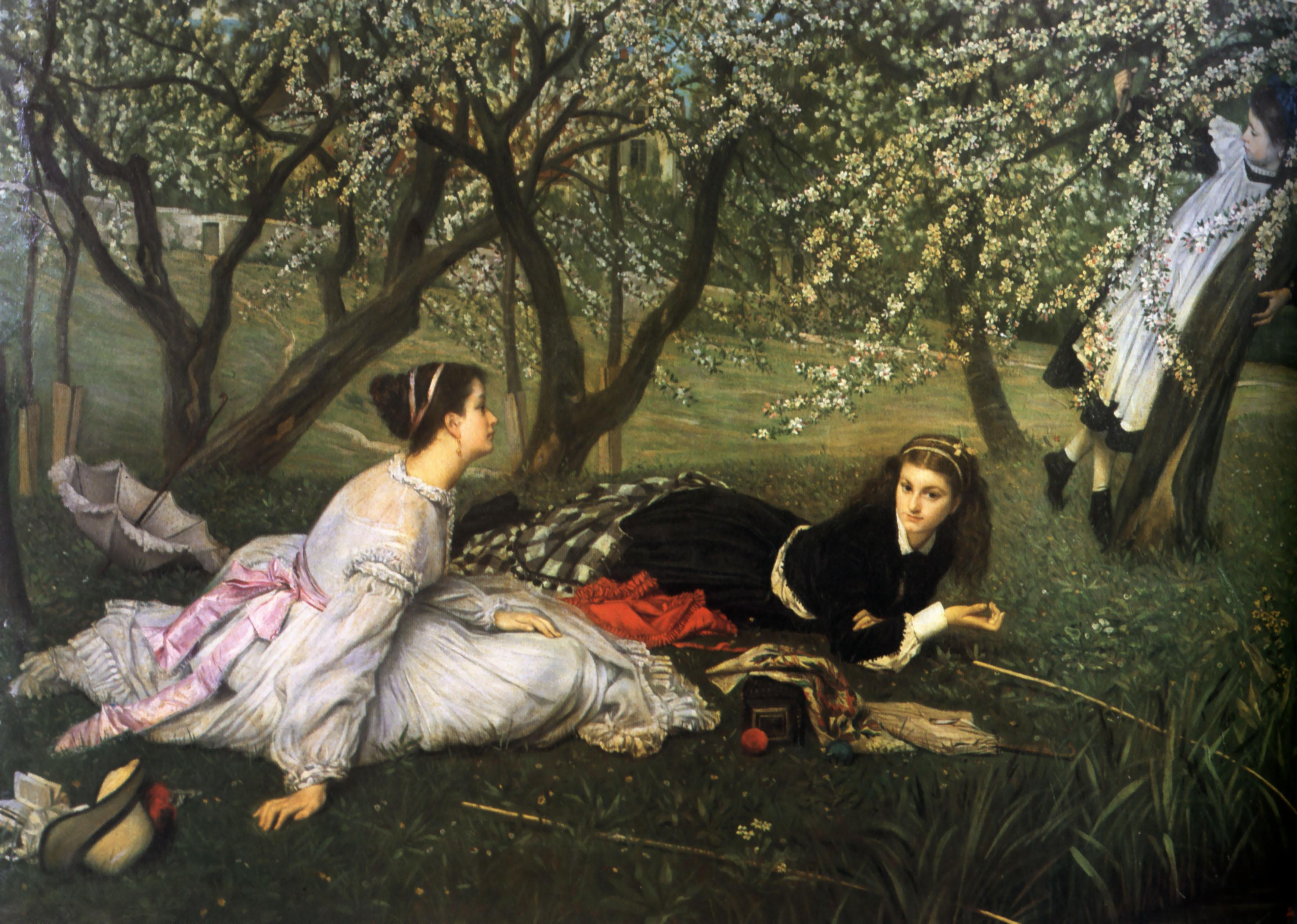 Spring, James Tissot, 1865