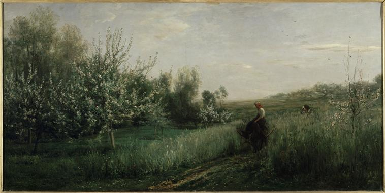 Spring, Charles-Francois Daubigny, 1857