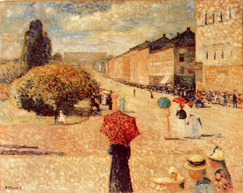 Spring Day On Karl Johan Street, Edvard Munch, 1890