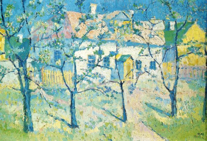 Spring Garden In Blossom, Kazimir Malevich, 1904