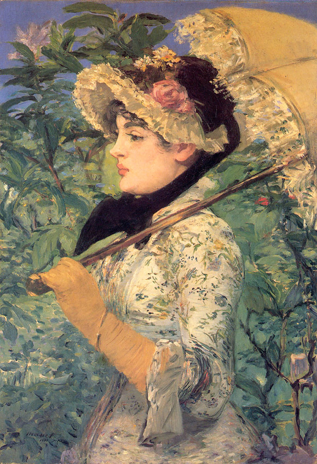 Spring (Study Of Jeanne Demarsy), Edouard Manet, 1882