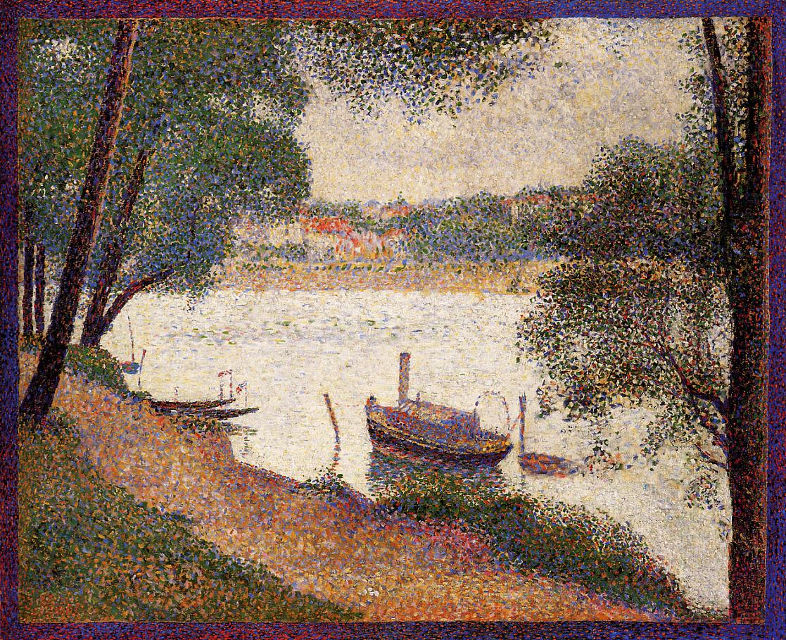 The Seine At La Grande Jatte In The Spring, Georges Seurat, 1888