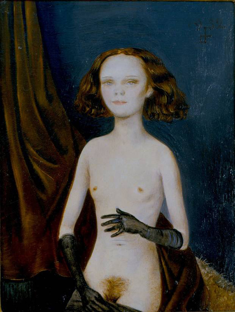 Nude Girl with Gloves, Otto Dix, 1932