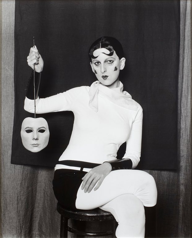 Gillian Wearing as Cahun holding a mask 2012. Photograph: Gillian Wearing/Tanya Bonakdar Gallery/Maureen Paley