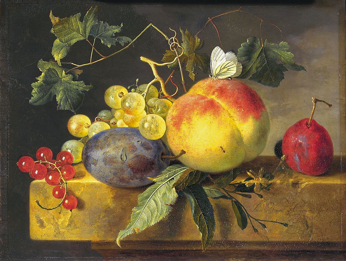 Jan van Huysum, Still Life with Fruit and Butterfly c.1735