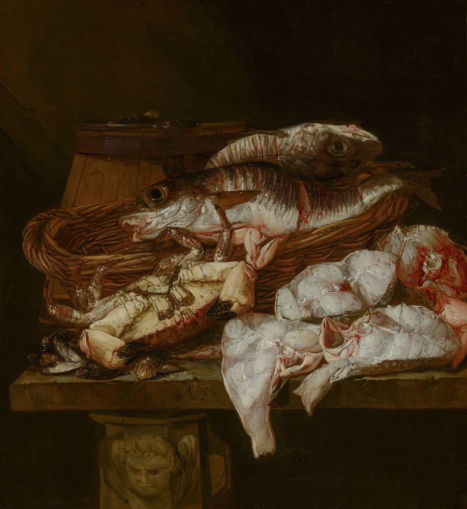 Abraham van Beijeren - Still Life with Seafood.