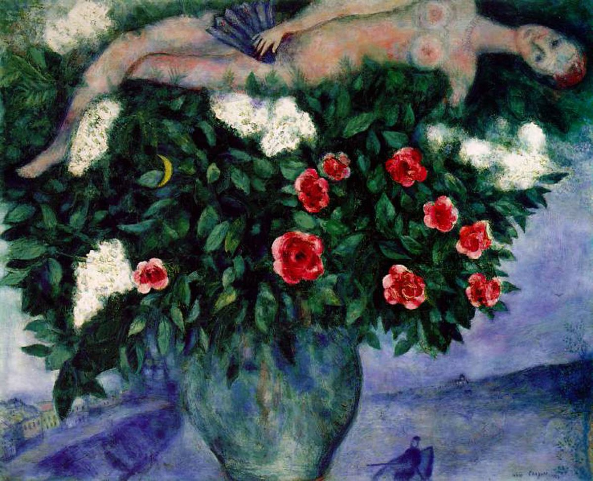 The Woman And The Roses, Marc Chagall, 1929