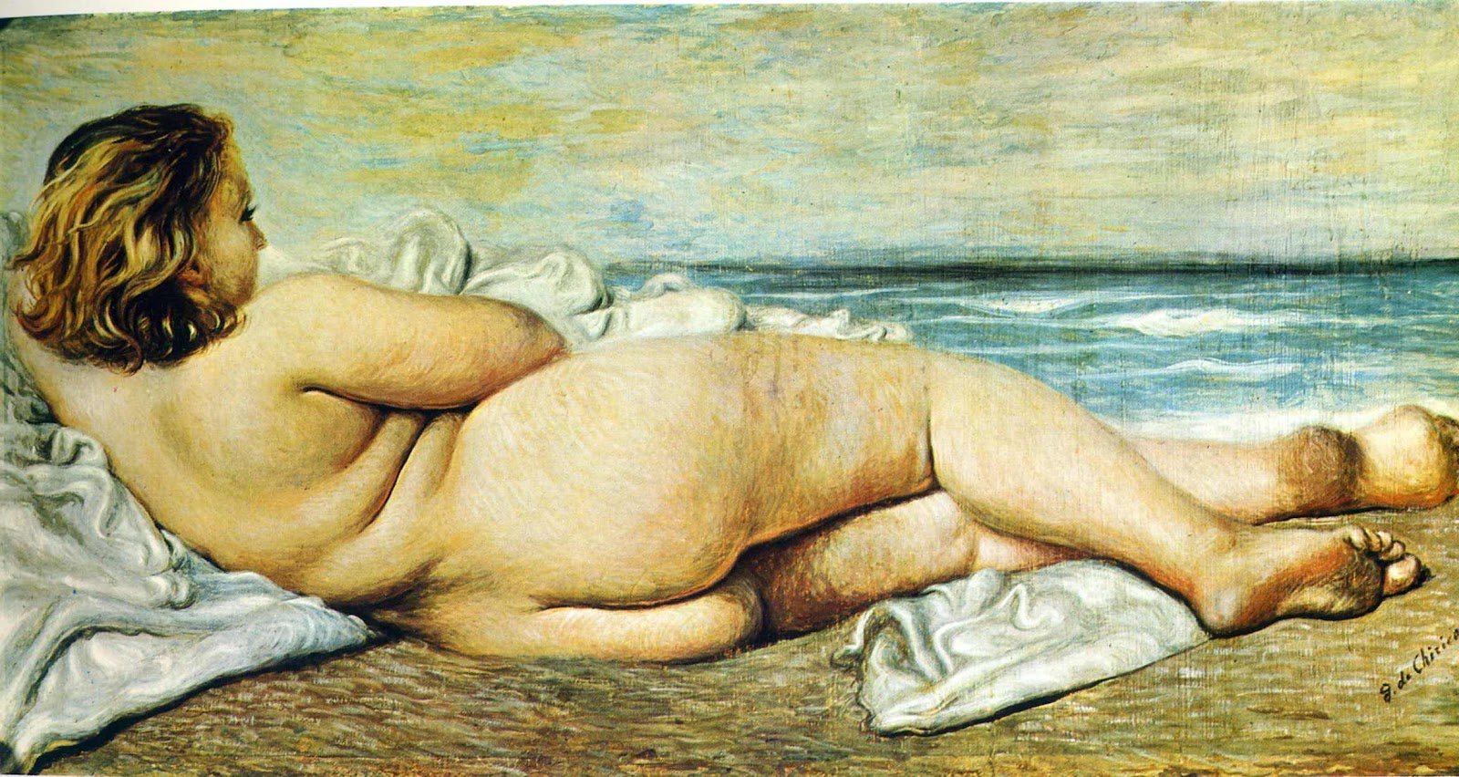 Nude Woman On The Beach, Giorgio de Chirico, 1932