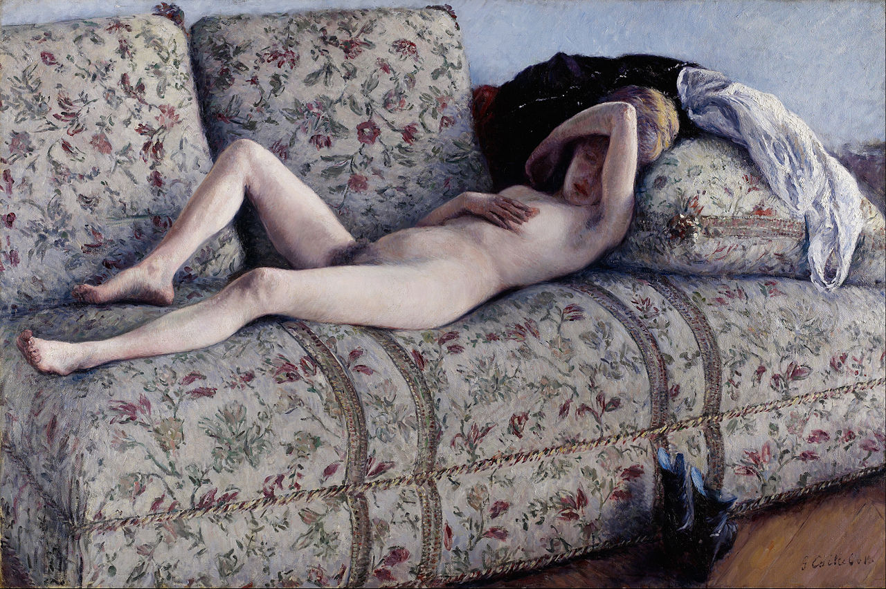 Nude on a Couch, Gustave Caillebotte, 1890