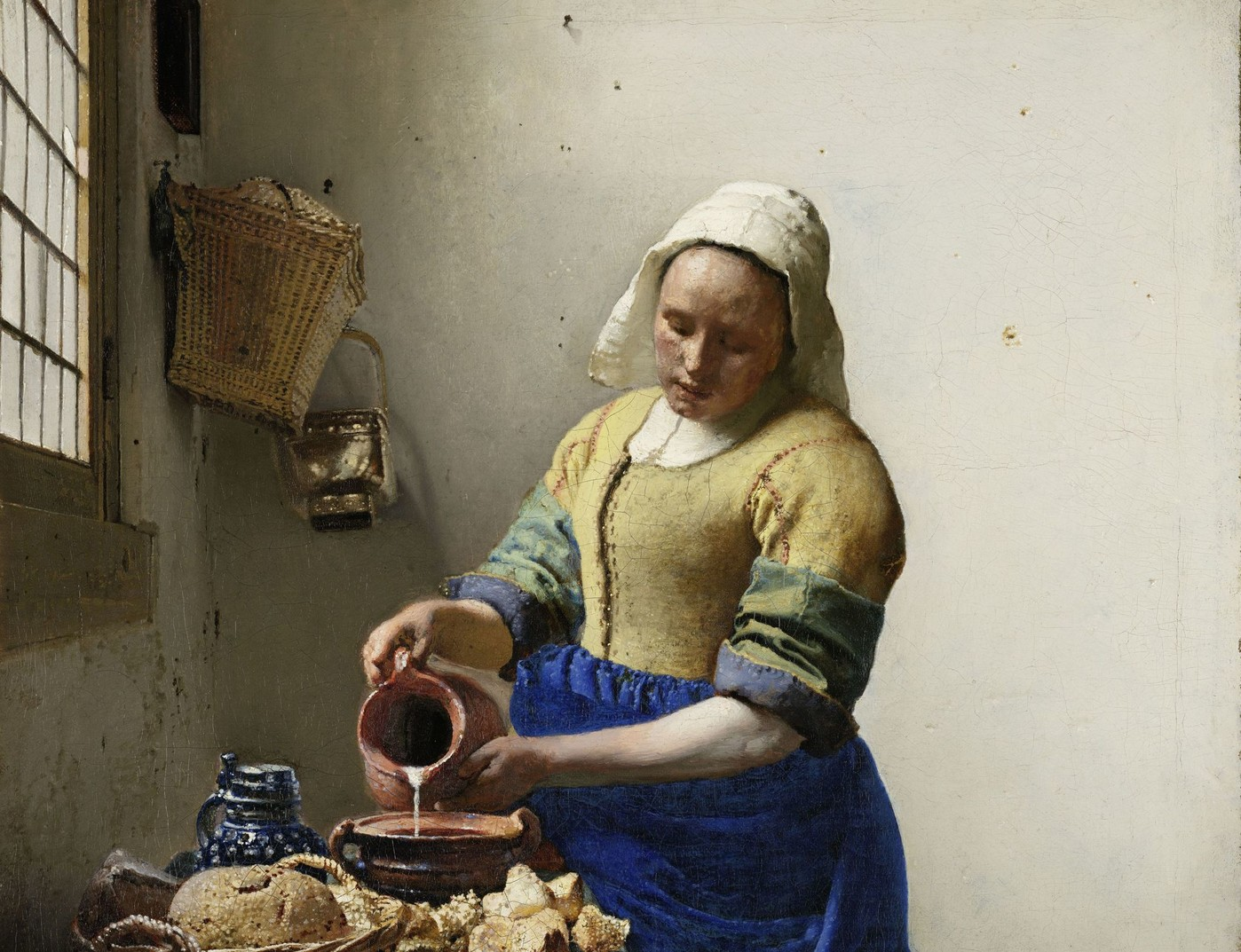 Vermeer's Milkmaid, Rijksmuseum, Amsterdam Photo: Louvre