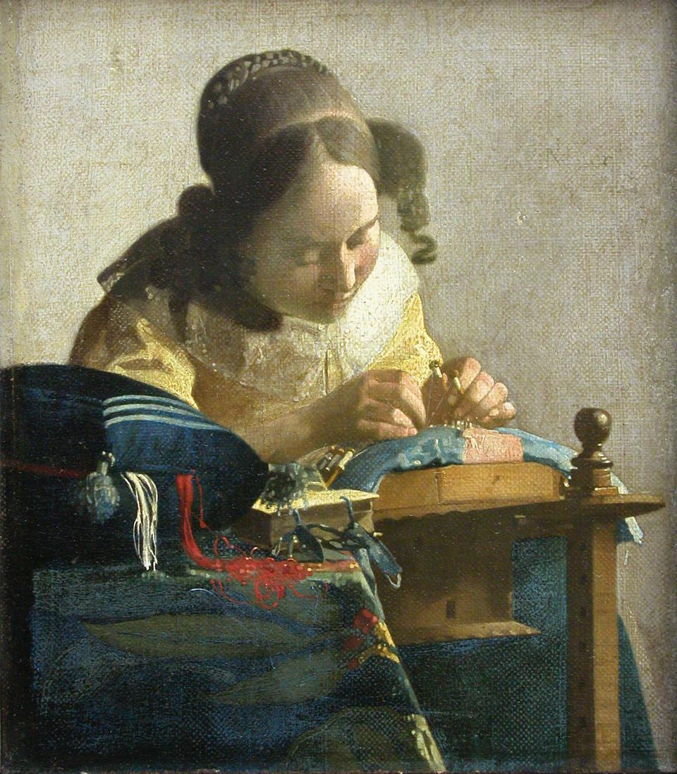 The Lacemaker by Vermeer, Louvre Photo: Louvre