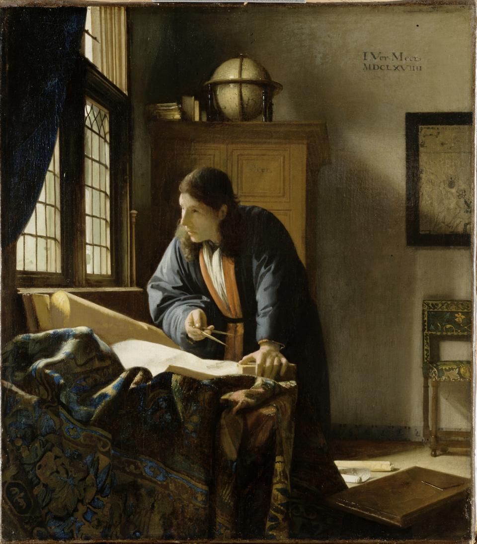 The Geographer by Vermeer Stadel Museum, Frankfurt Photo: Louvre