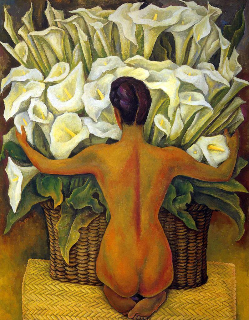 Nude with Calla Lilies, Diego Rivera, 1955