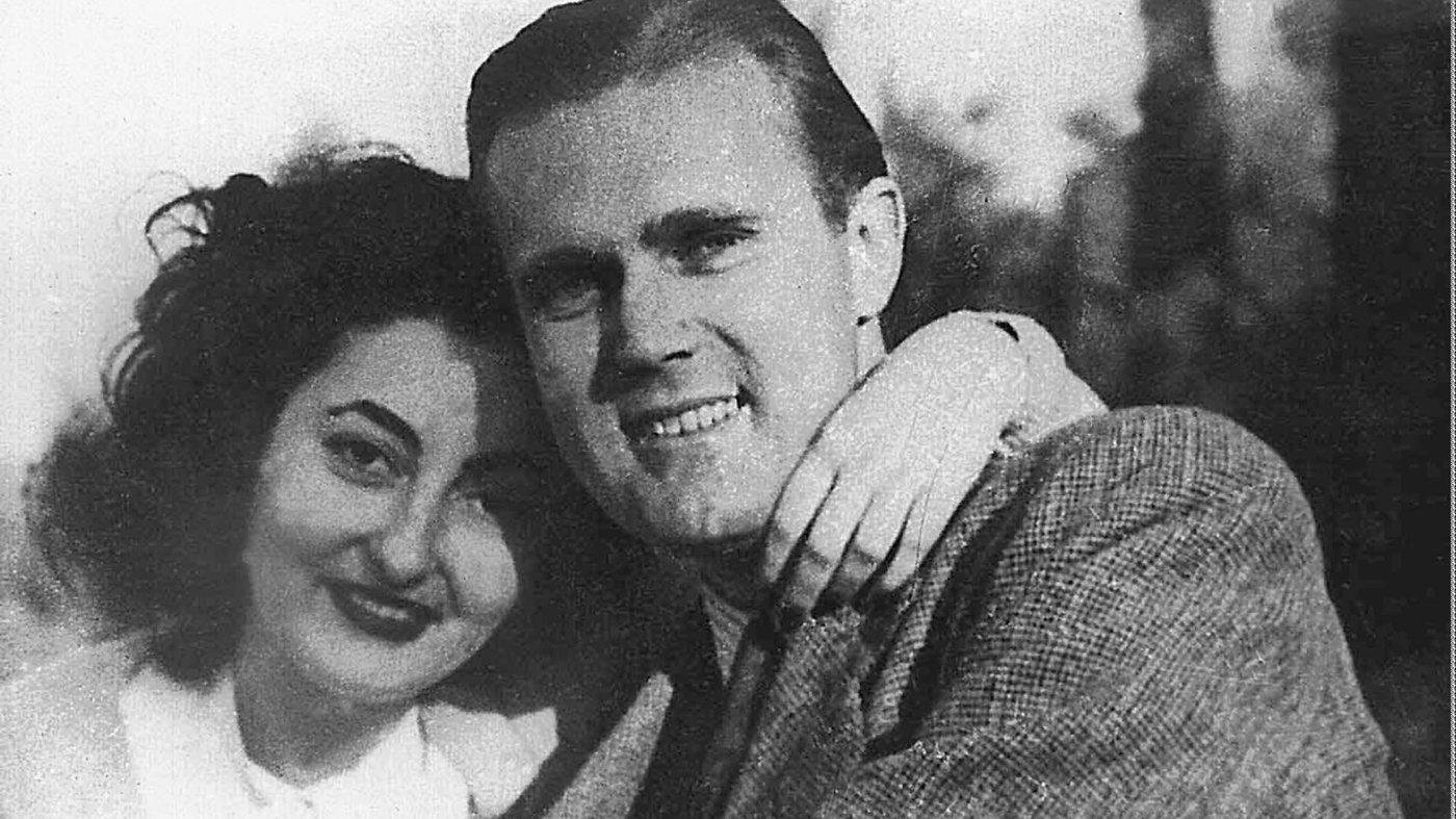 O Τζορτζ Πολκ και η γυναίκα του Ρέα Κοκκώνη το 1948, λίγο πριν τη δολοφονία του