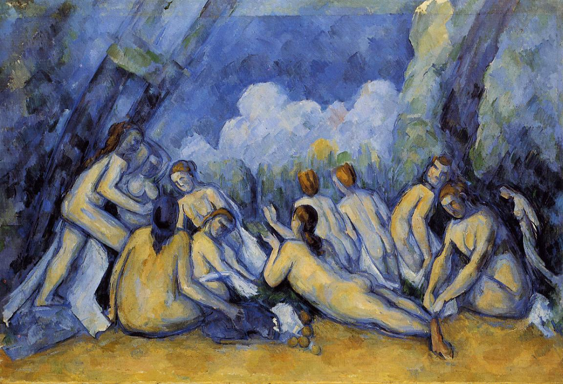 Large Bathers, Paul Cezanne, 1900