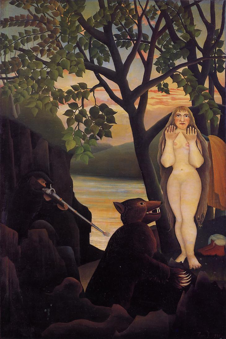 Nude And Bear, Henri Rousseau, 1901