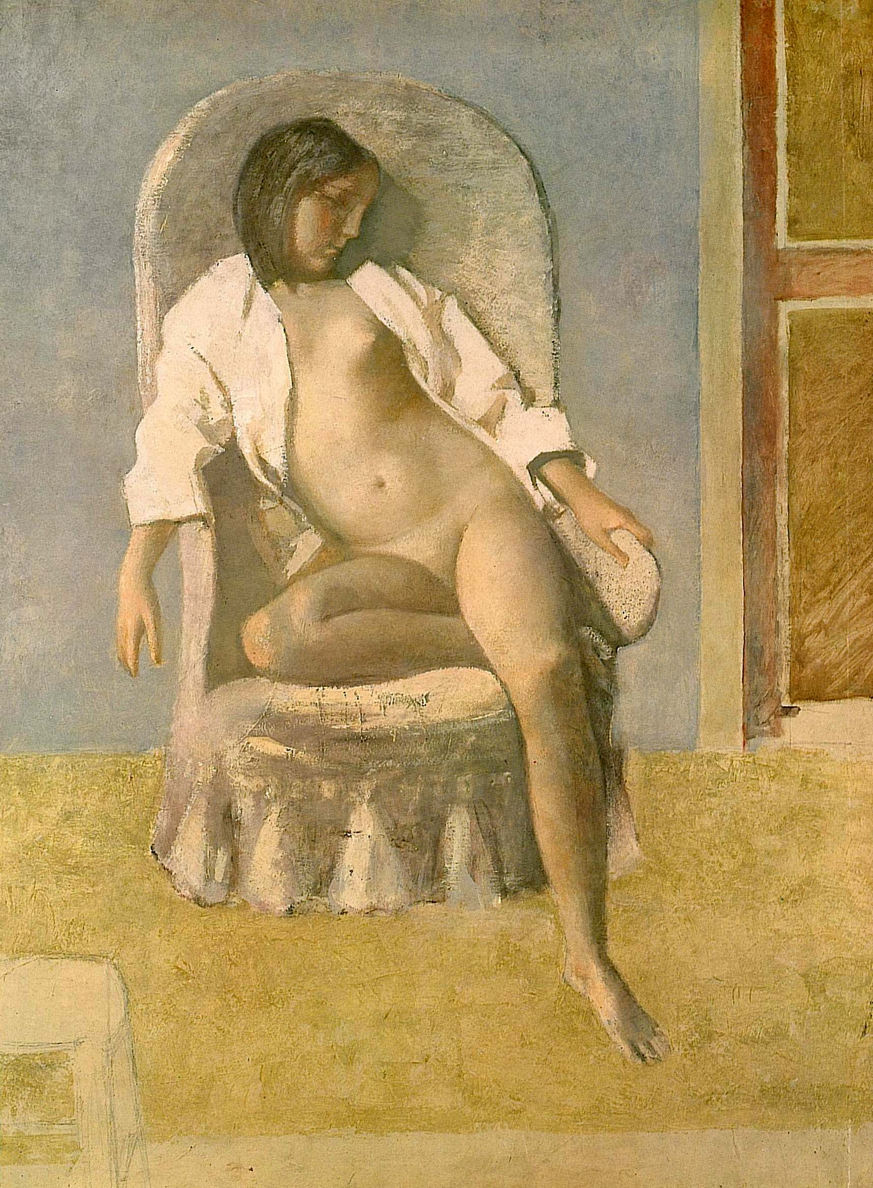 Nude at Rest, Balthus, 1977