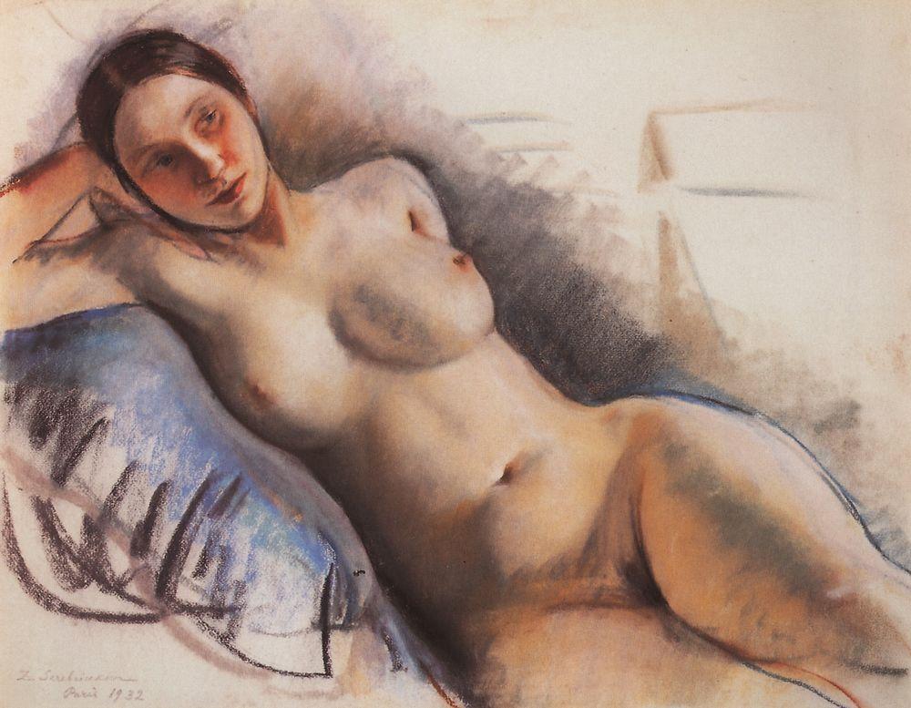Reclining Nude, Zinaida Serebriakova, 1930