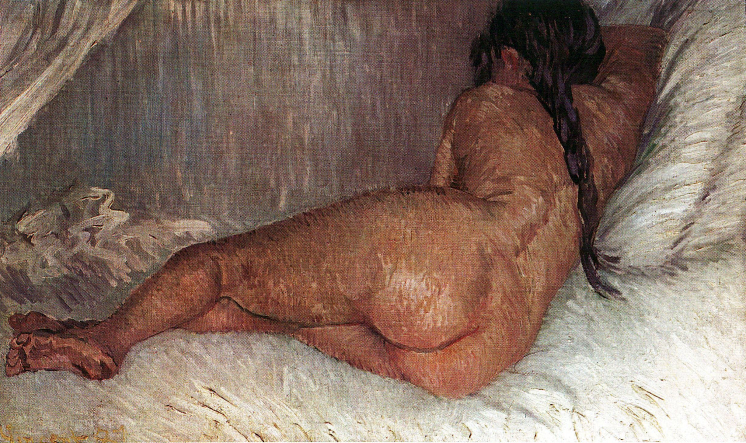 Nude Woman Reclining, Seen From The Back, Vincent van Gogh, 1887