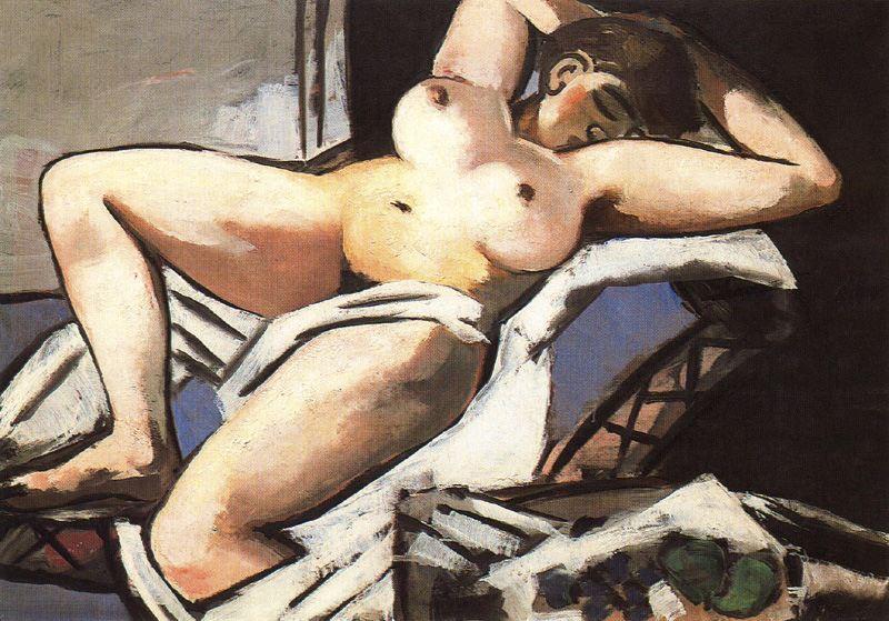 Reclining Nude, Max Beckmann, 1929