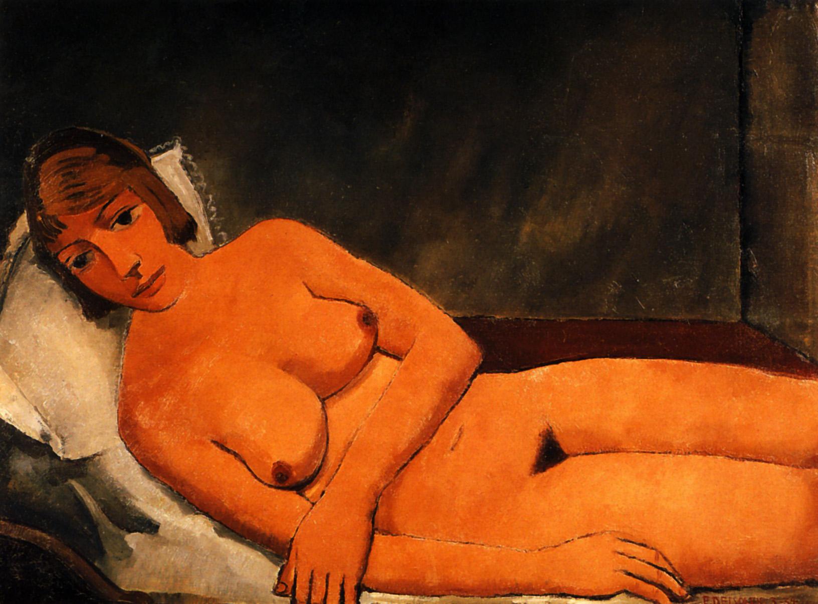 Reclining Nude, Paul Delvaux, 1934