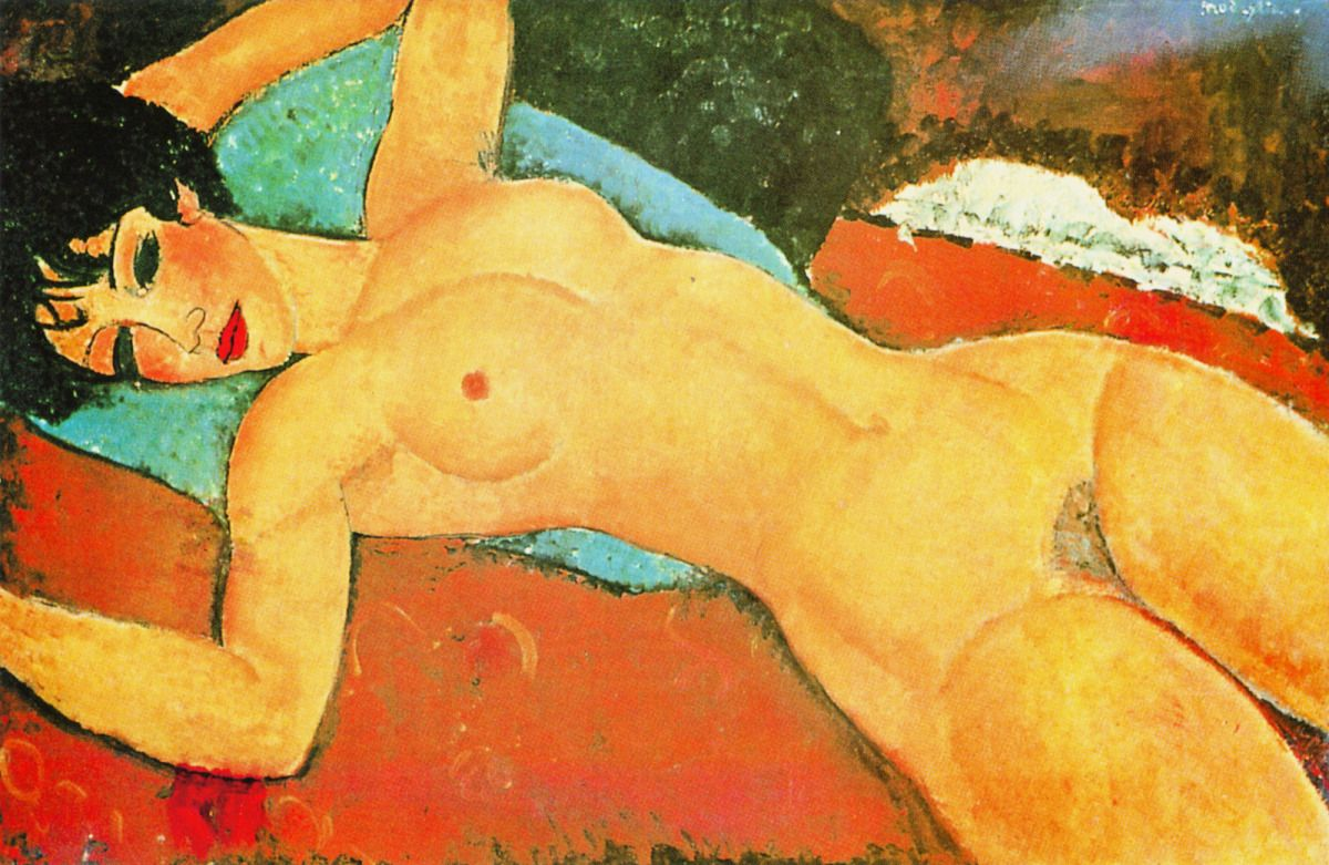 Sleeping Nude With Arms Open (Red Nude), Amedeo Modigliani, 1917