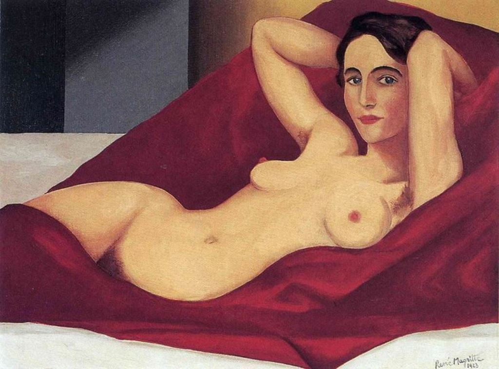 Reclining Nude, Rene Magritte, 1923