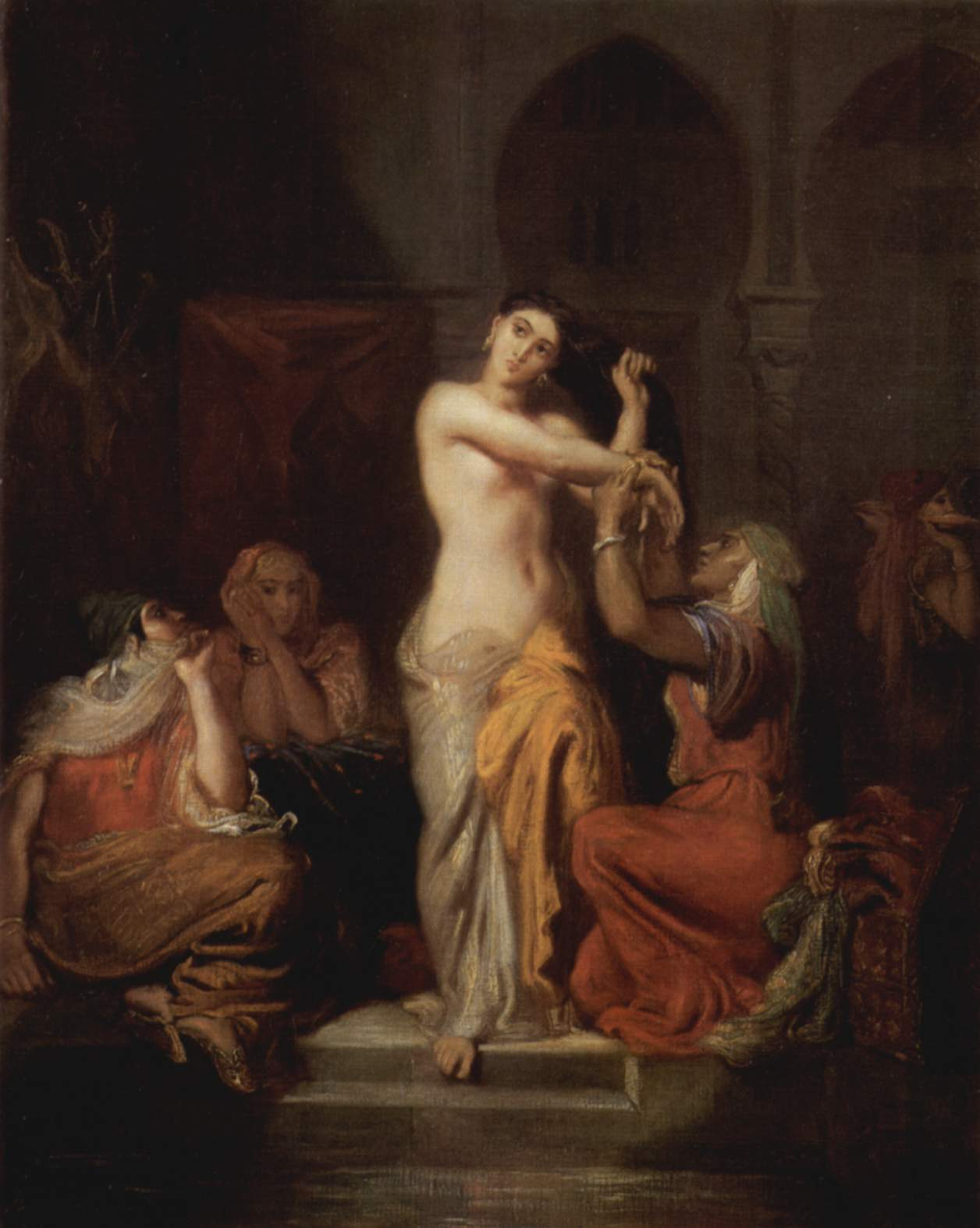 Intérieur De Harem, Femme De Constantine Sortant Du Bain Theodore Chasseriau, 1854