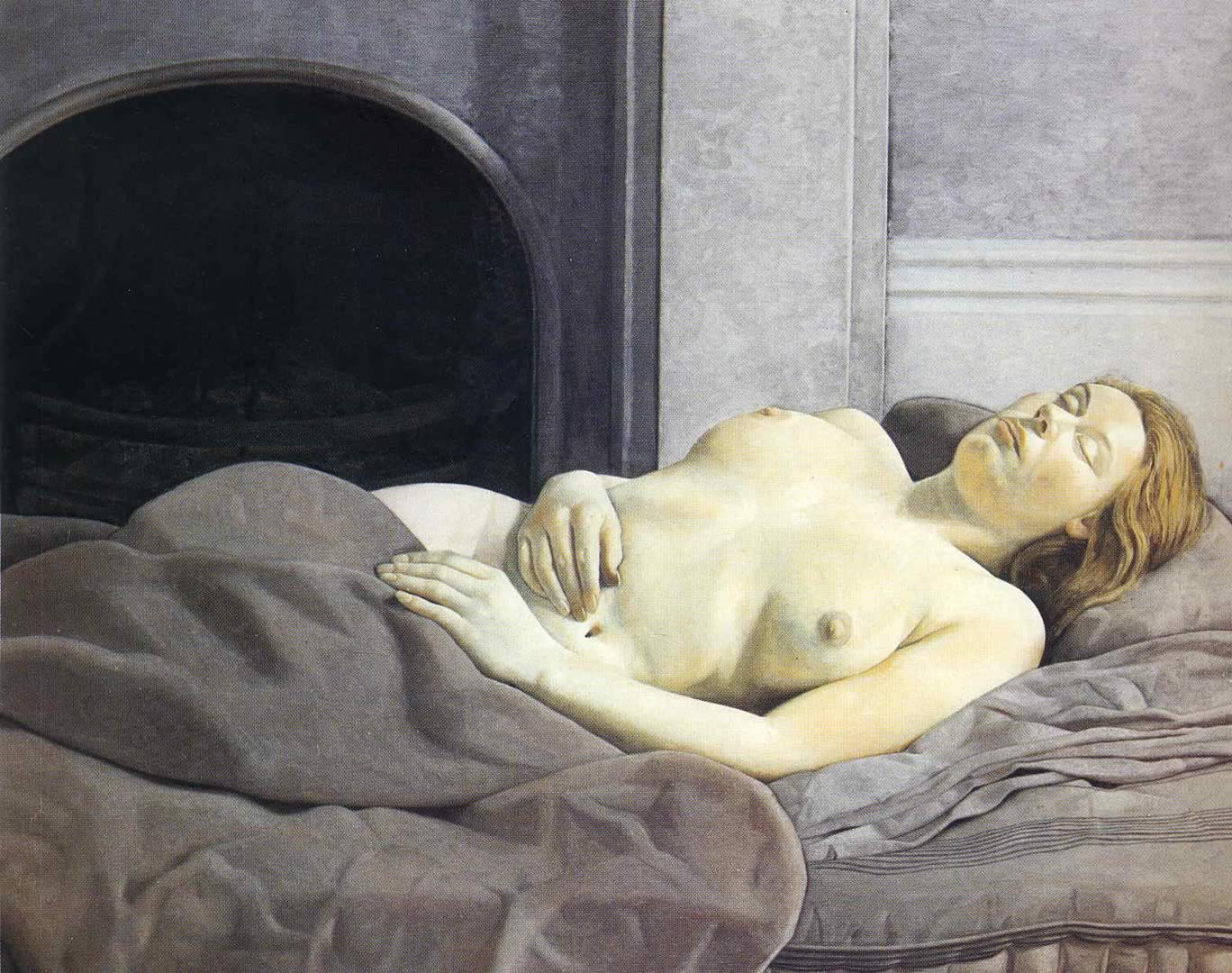 Sleeping Nude, Lucian Freud, 1950