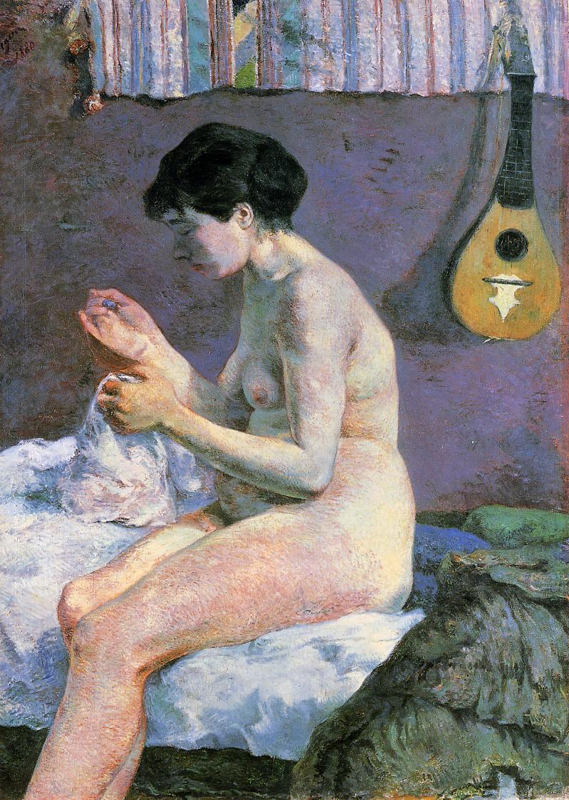 Suzanne Sewing - Study of a Nude, Paul Gauguin, 1880