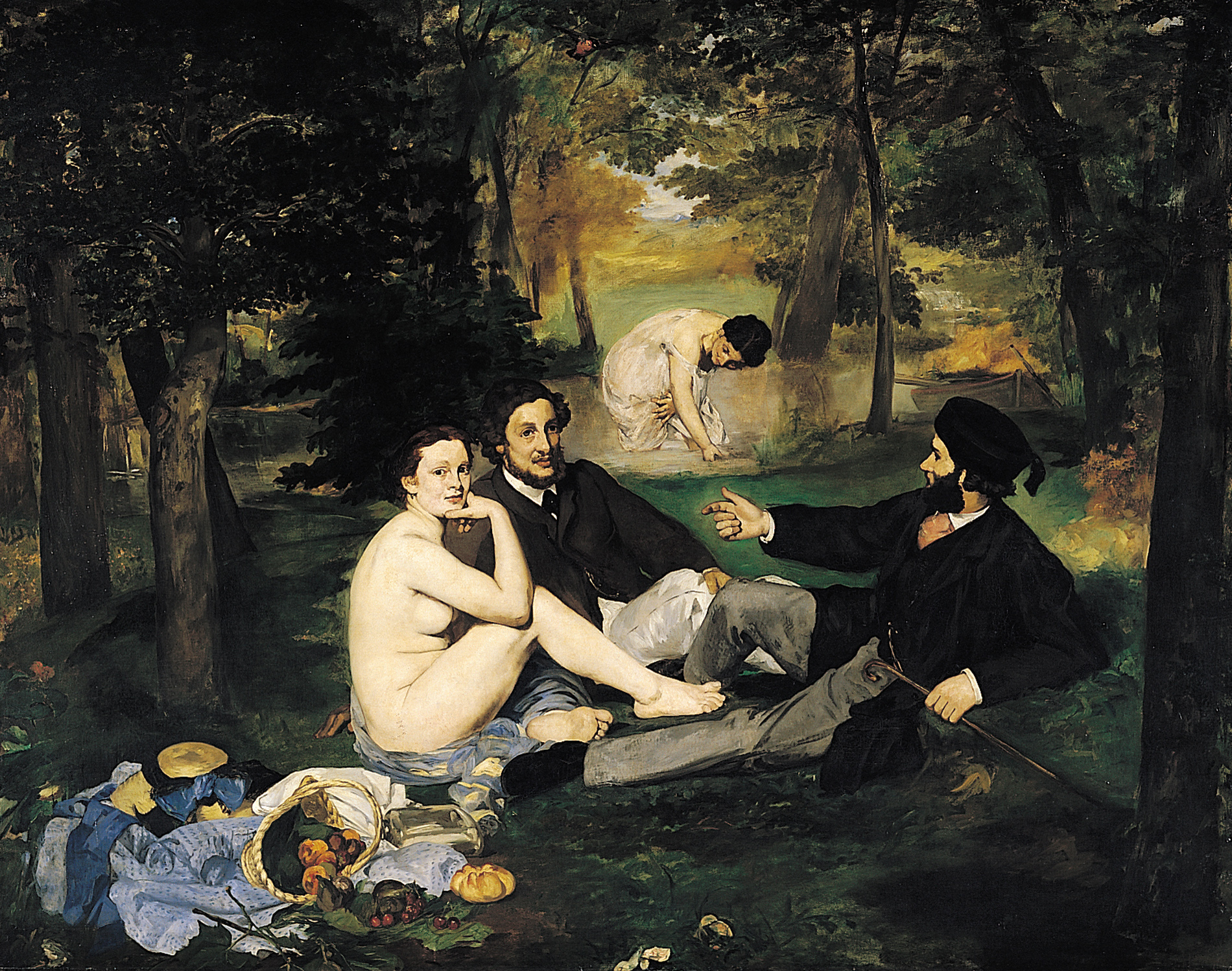 The Luncheon On The Grass, Edouard Manet, 1863