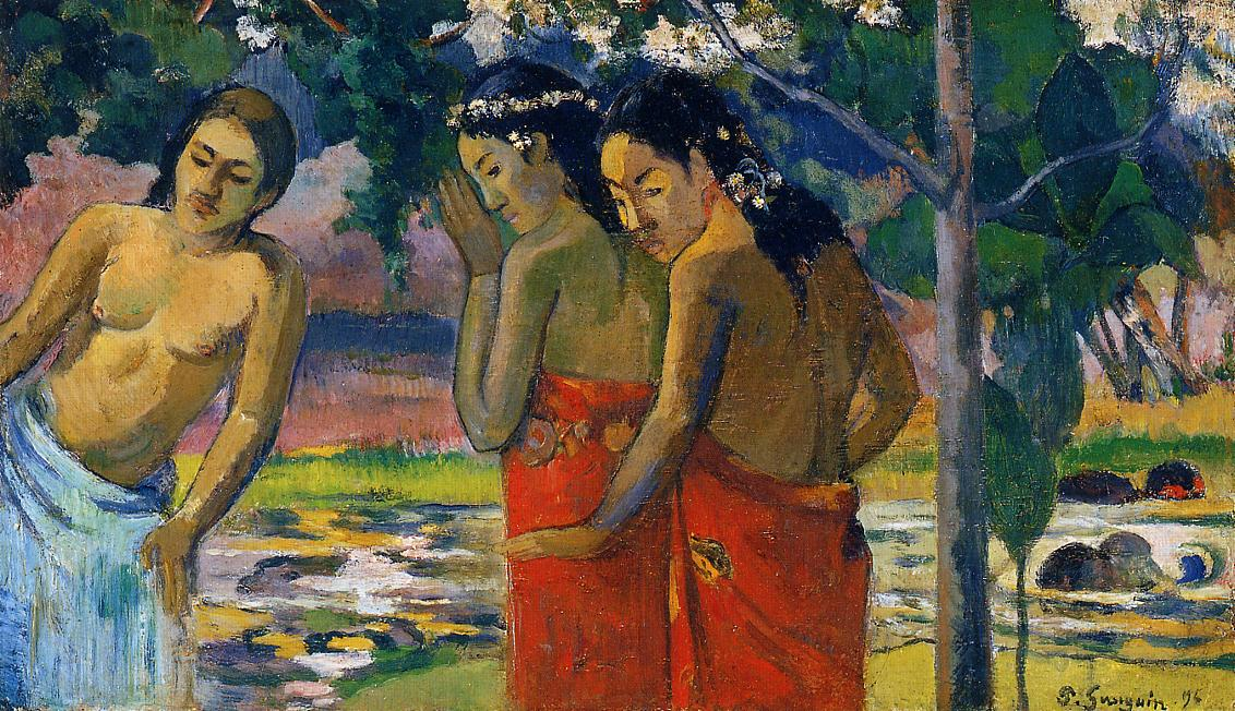 Three Tahitian Women, Paul Gauguin, 1896