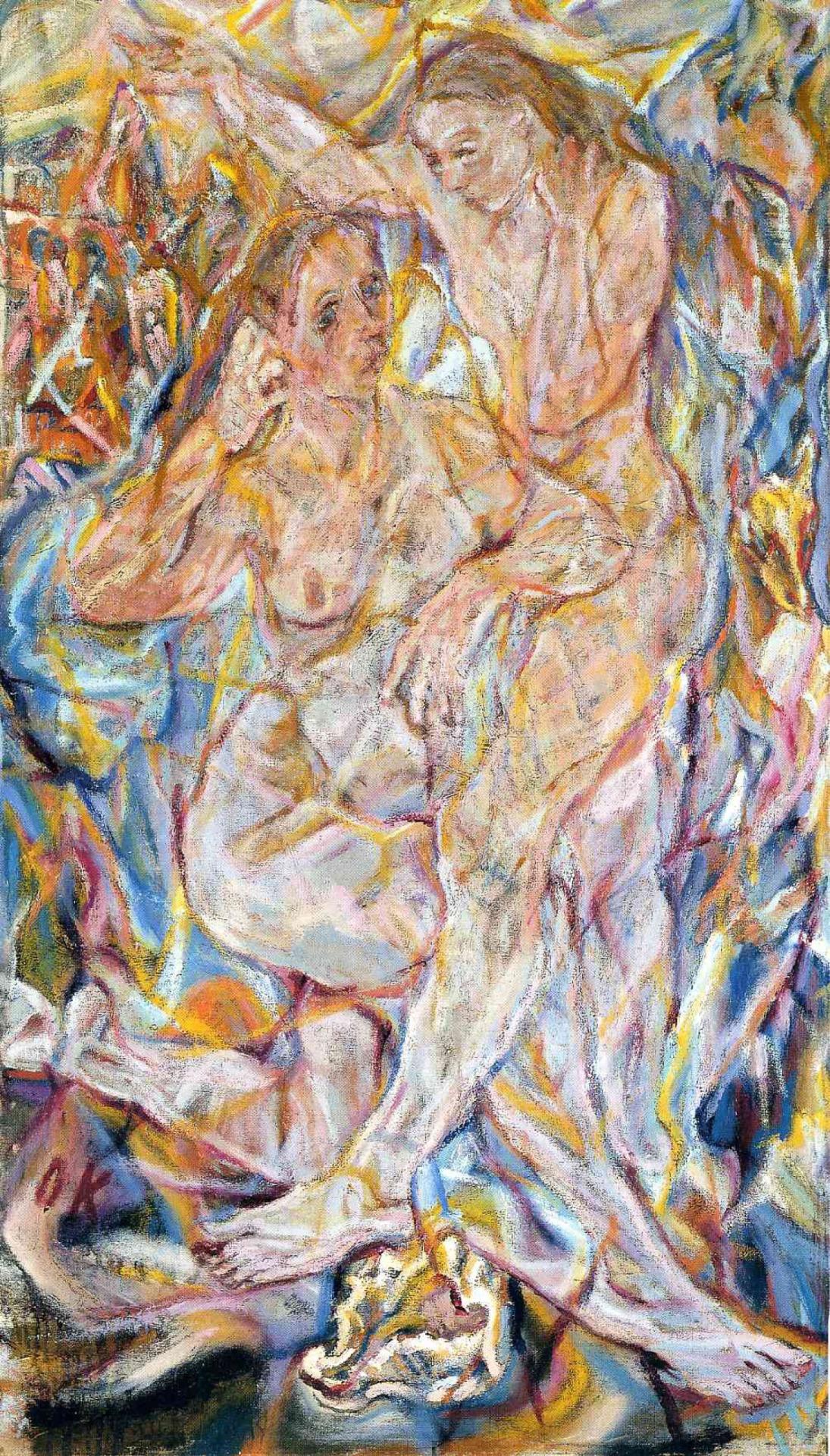 Double Nude: Two Women, Oskar Kokoschka, 1912