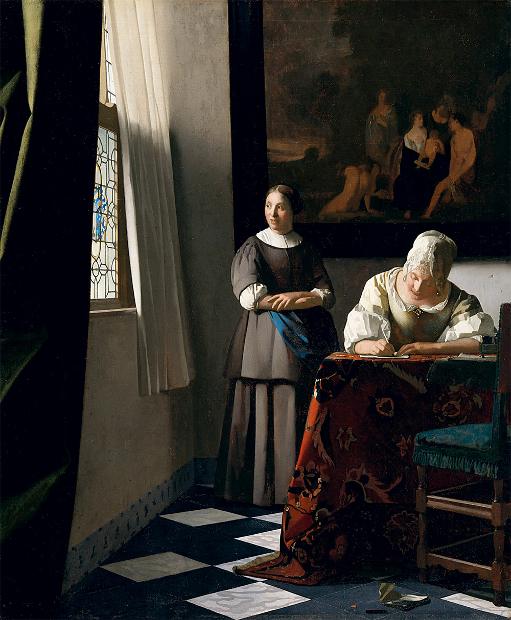 The Letter by Vermeer, National Gallery of Ireland Photo: Louvre