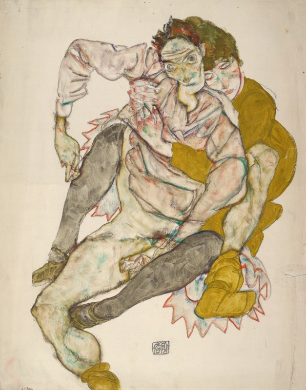 Seated Couple, 1915, Albertina, Vienna