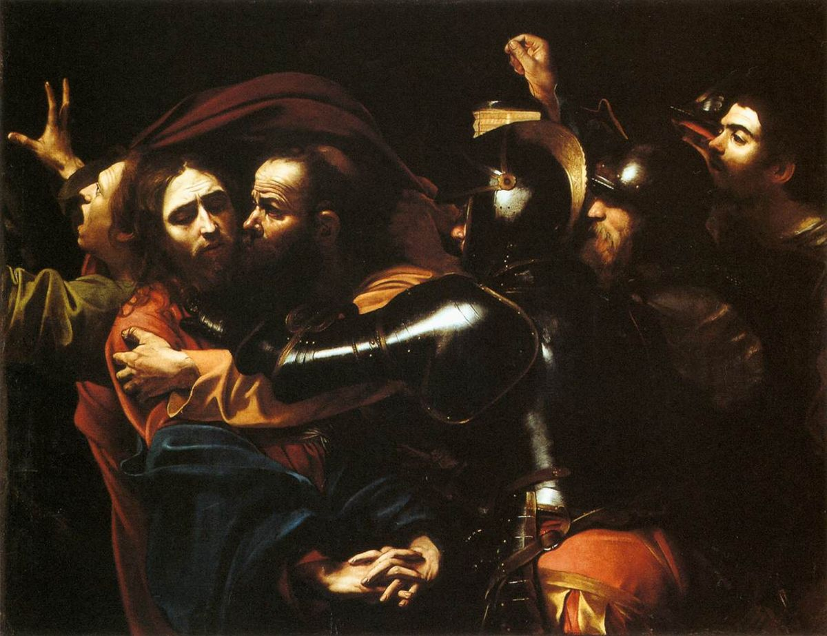 The Taking Of Christ (oil On Canvas) By Michelangelo Caravaggio (1571-1610
