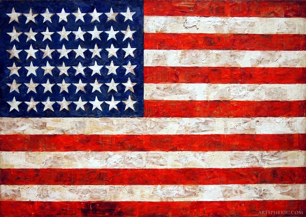 Jasper Johns, Flag (1954)