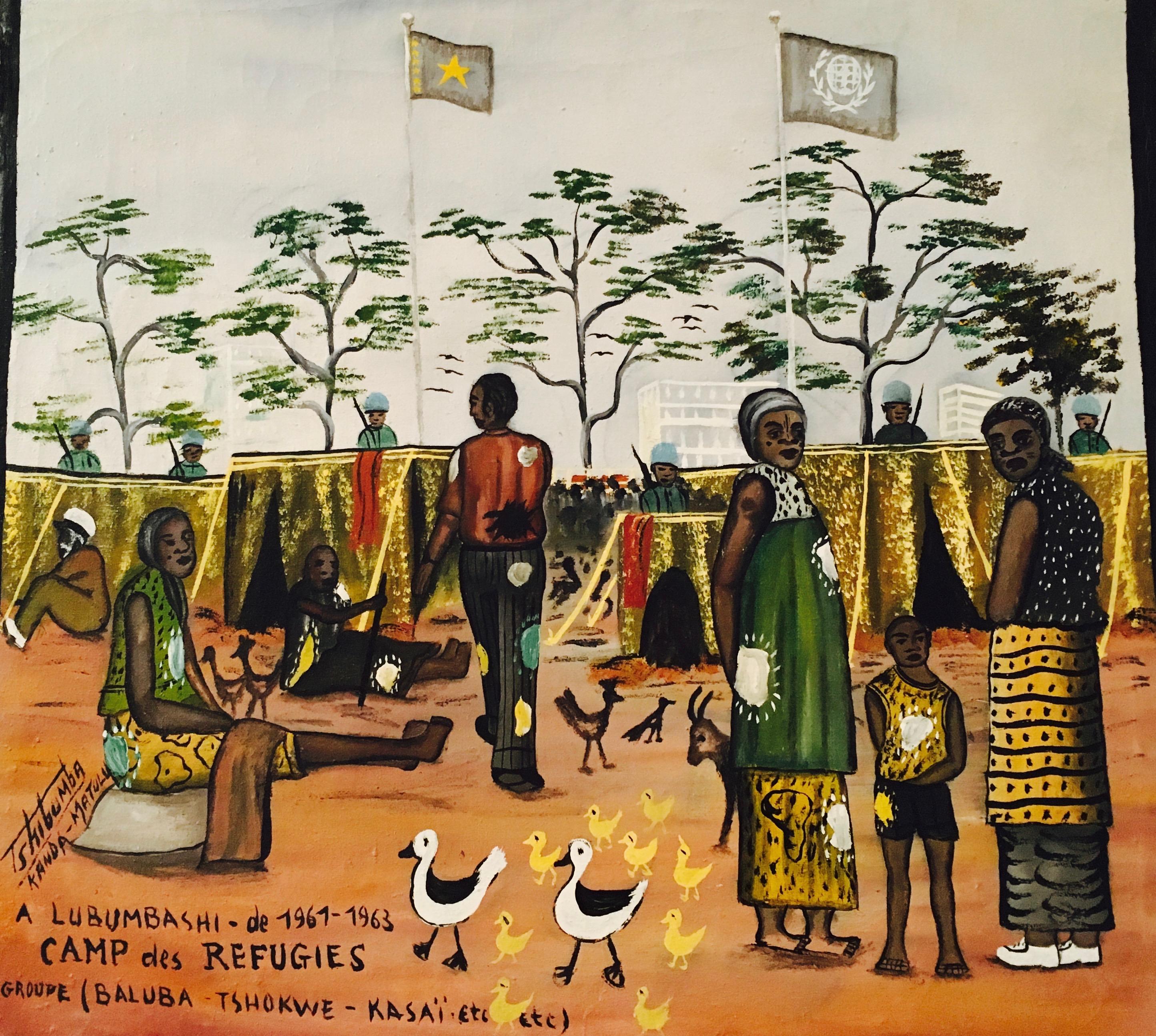 Στρατόπεδο προσφύγων στο Λουμούμπασι 1961-63, του Tshibumba Kanda Matulu