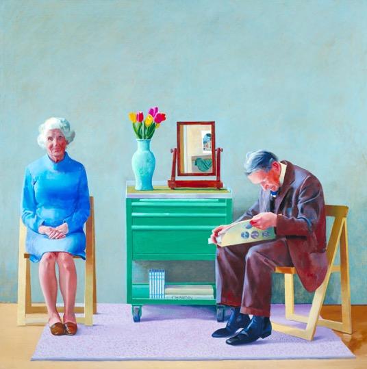 Ντέιβιντ Χόκνεϋ (Αγγλία, γ. 1937). Οι Γονείς Μου, 1977. Λάδι σε καμβά (183x183). Ευγενική παραχώρηση της Τέιτ Γκάλερυ, Λονδίνο