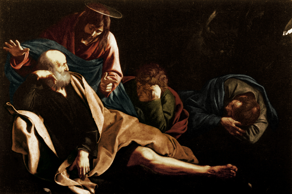 Christ and the Apostles in the Garden, Michelangelo Merisi da Caravaggio, c. 1605