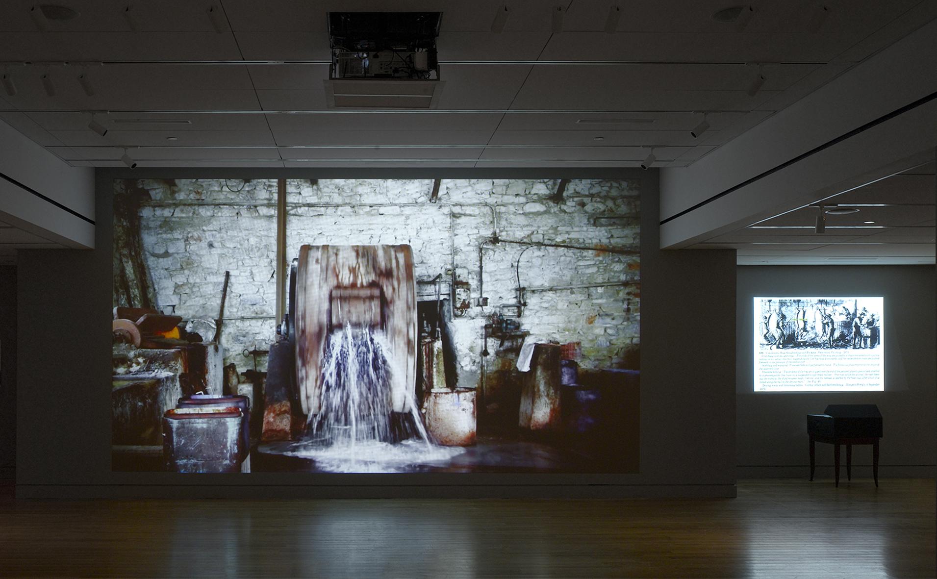 Μαρία Παπαδημητρίου, Ροτόμπολο, 2016 Βιντεοπροβολή Μεταβλητές διαστάσεις Άποψη εγκατάστασης, Laboratory Antigone, 2016 Ανάθεση του Onassis Cultural Center New York στο πλαίσιο του Onassis Festival NY 2016: Antigone Now Φωτο: Joseph Coscia, Jr.