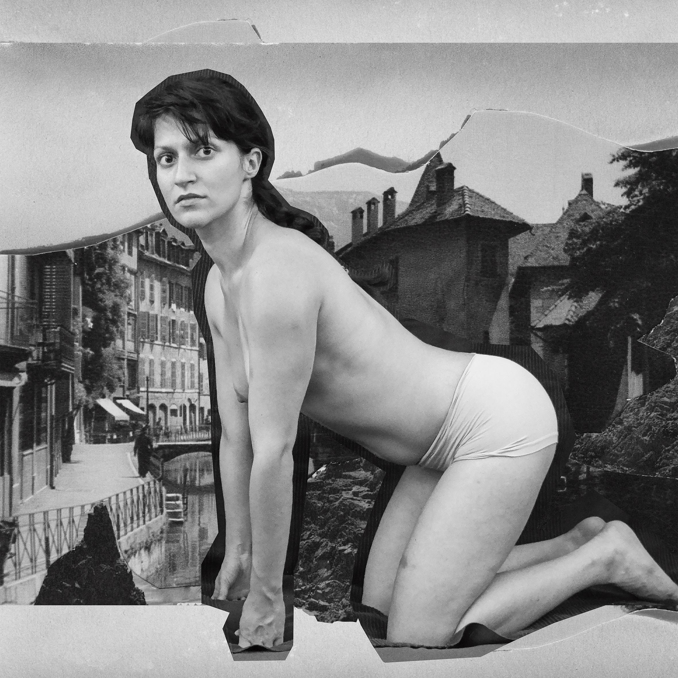 Μαρία Παπαδημητρίου, The Sphinx and the Riddle, 2016 Ψηφιακή εκτύπωση σε καμβά 200 x 200 cm Libreria delle Donne, Μιλάνο