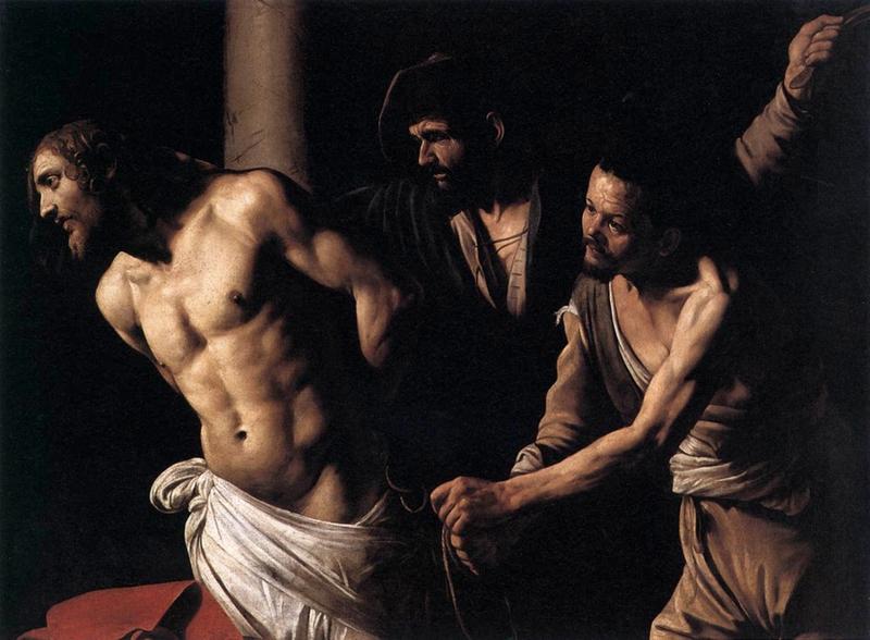 Cristo de la Columna, Caravaggio (Michelangelo Merisi) (1571-1610, Italy)