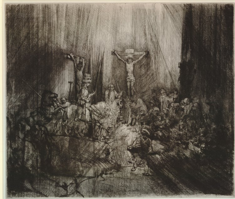 Christ Crucified Between The Two Thieves (Three Crosses), Rembrandt