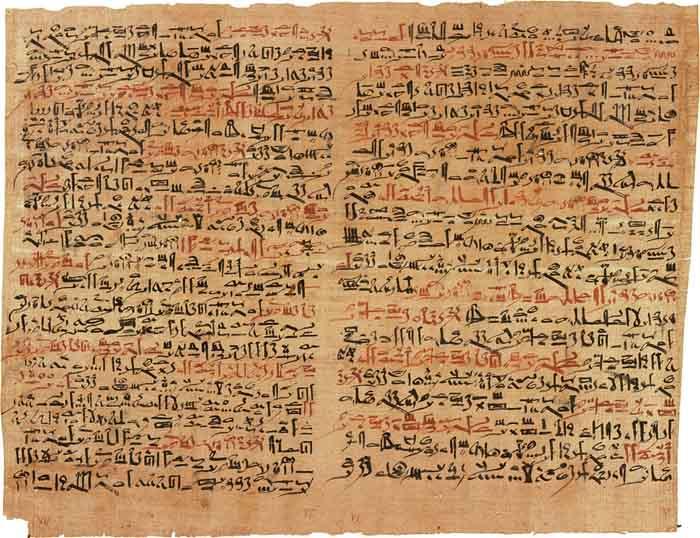 """Papyrus Ebers"" από την Αίγυπτο με καταγεγραμένα 700 φάρμακα."