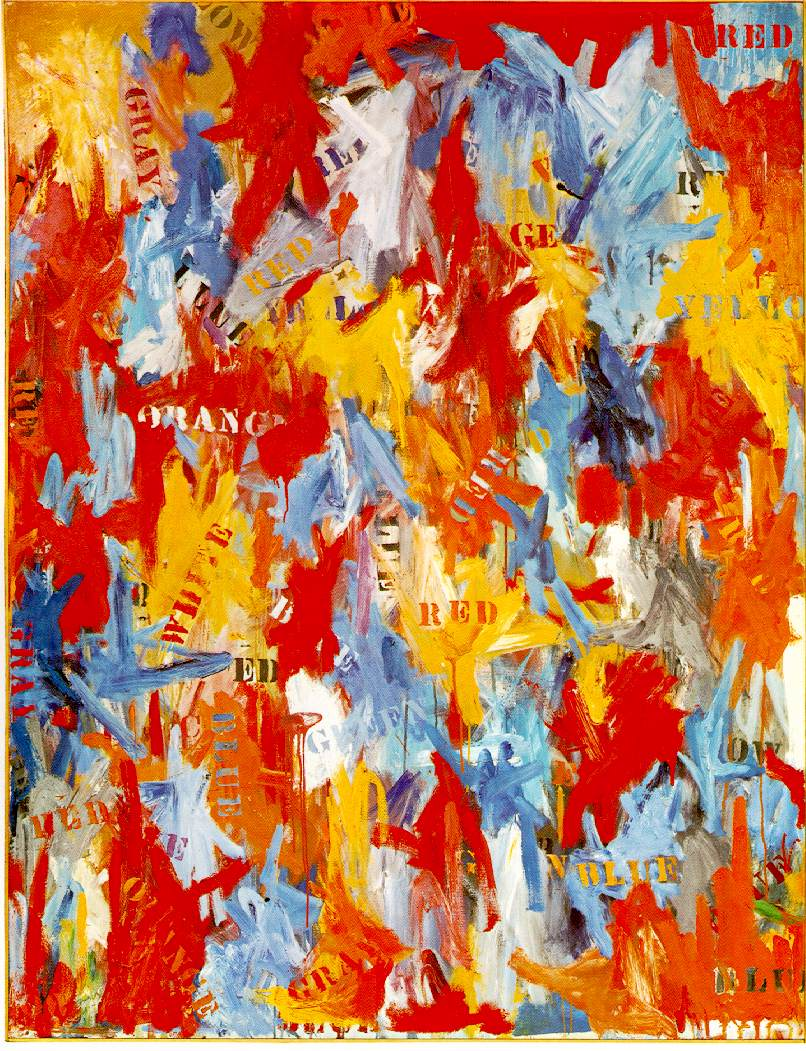 Jasper Johns, False Start (1959)