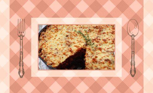 Σουφλέ λάχανο με κιμά και ρύζι