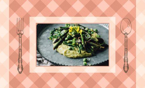 Η συνταγή της ημέρας: Χούμους με σωταρισμένα σπαράγγια, αρακά και γογγύλια