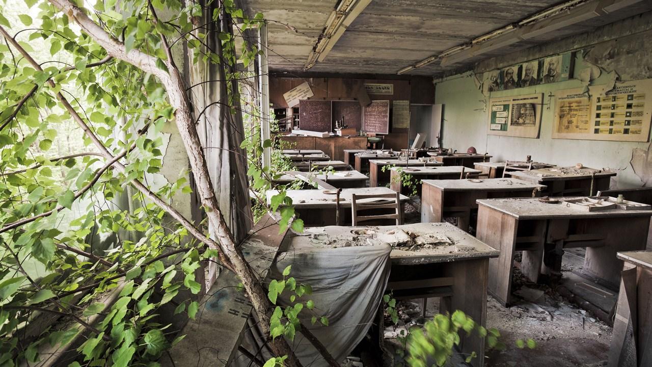 Εγκαταλελειμένο σχολείο στο Πρίπιατ. © Gerd Ludwig, 2005